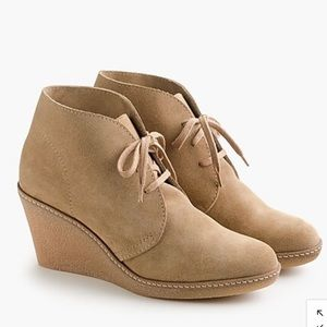 J.Crew MacAlister Tan Suede Wedge Boots